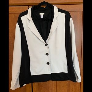 Chico's black/white jacket. Size L
